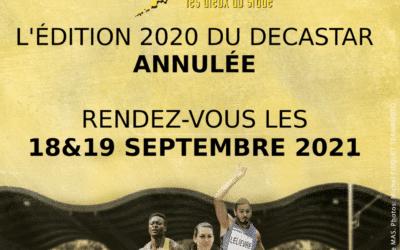 Annulation de l'édition 2020